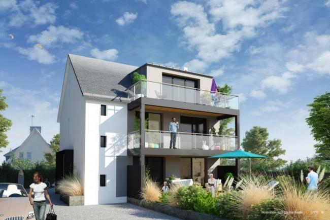 Vente  appartement Ploemeur - 2 chambres - 52 m²